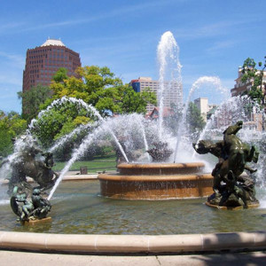 One of the many fountains in Kansas City, MO